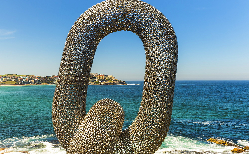 Sculpture by the sea, with Bondi Beach in the background, Sydney, New South Wales, Australia, Pacific - 1181-8