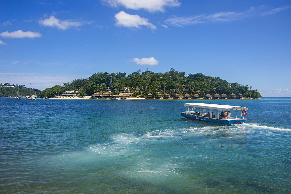 Transfer to the exclusive Iririki Island, Efate, Vanuatu, Pacific