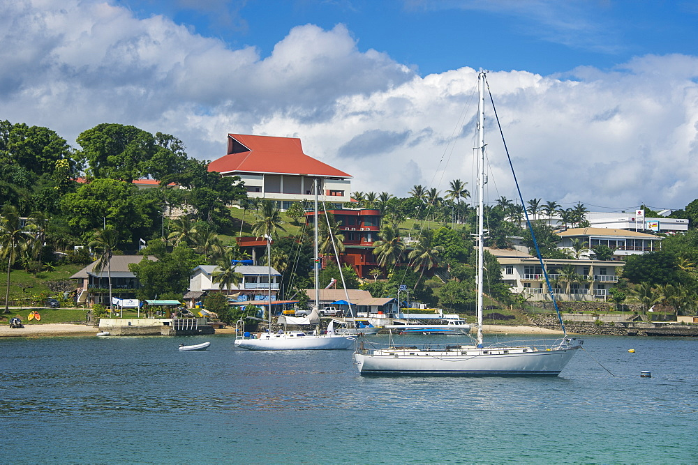 The harbour of Port Vila, Efate, Vanuatu, Pacific