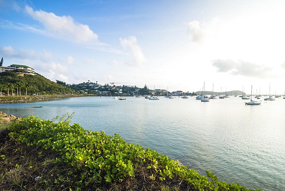 Promenade in the Magenta Port Sud bay, Noumea, New Caledonia