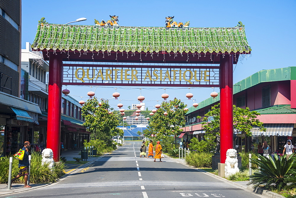Entrance to the Chinese Quarter, Noumea, New Caledonia, Pacific