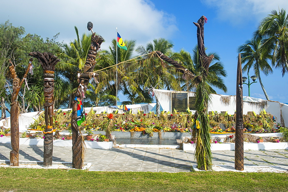 Monument des dix-neuf, monument of 19, Ouvea, Loyalty Islands, New Caledonia