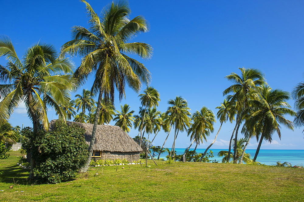 Traditional hut in Saint Joseph, Ouvea, Loyalty Islands, New Caledonia, Pacific