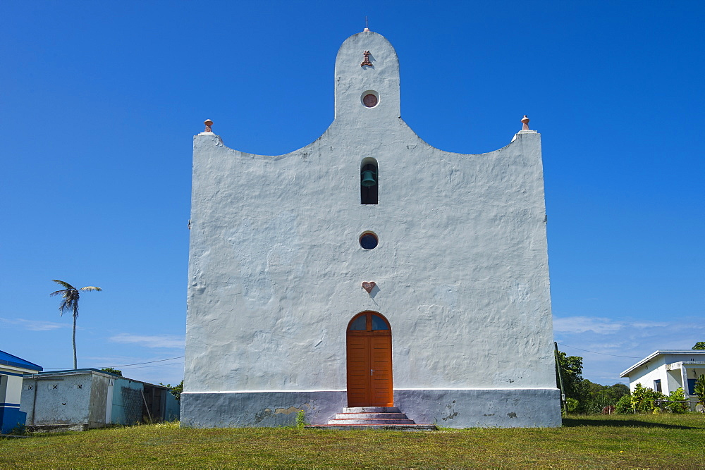Unusal Christian church, Ouvea, Loyalty Islands, New Caledonia, Pacific