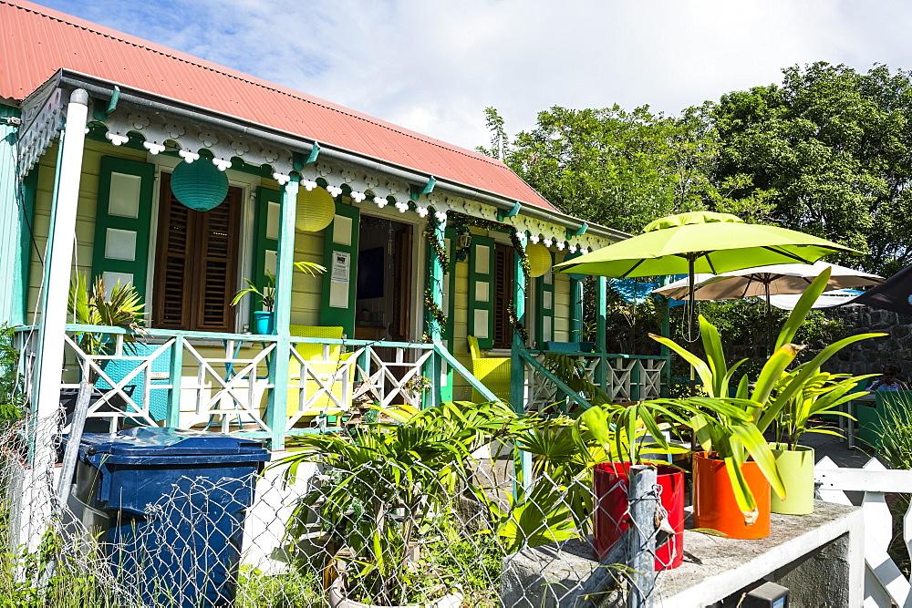 Historic building in Oranjestad capital of St. Eustatius, Statia, Caribbean, Netherland Antilles - 1184-1158
