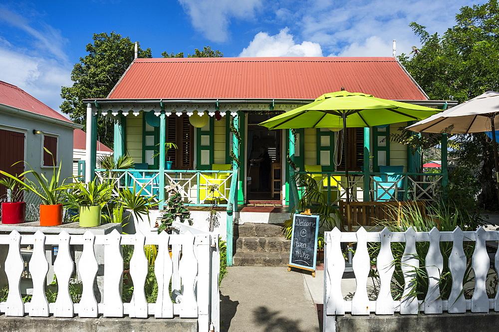 Historic building in Oranjestad, capital of St. Eustatius, Statia, Netherland Antilles, West Indies, Caribbean, Central America