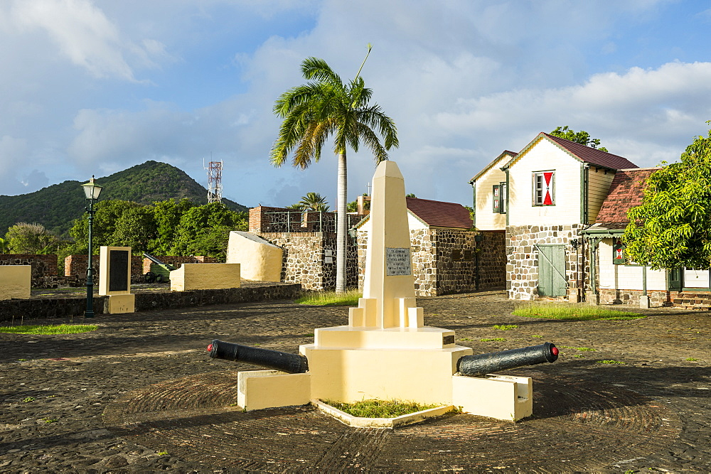 Fort Oranje, Oranjestad, capital of St. Eustatius, Statia, Netherland Antilles, West Indies, Caribbean, Central America