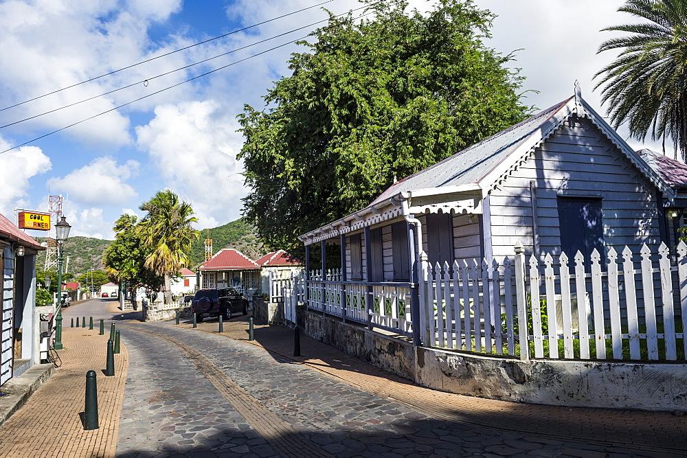 Historic center of Oranjestad capital of St. Eustatius, Statia, Caribbean, Netherland Antilles - 1184-1164