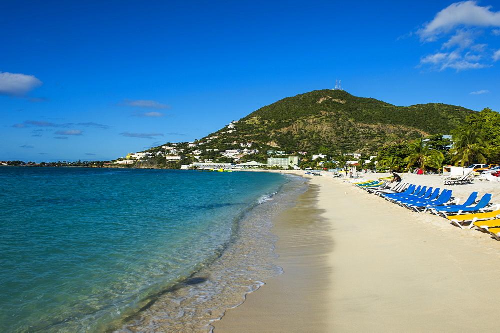 The bay of Philipsburg, Sint Maarten, West Indies, Caribbean, Central America