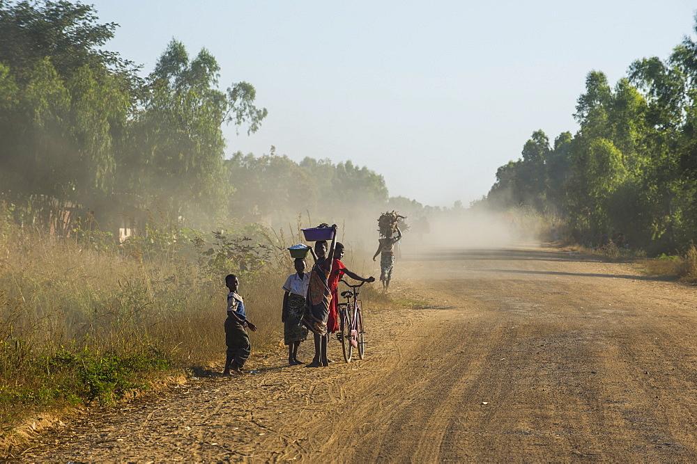 Dusty road, Mount Mulanje, Malawi, Africa