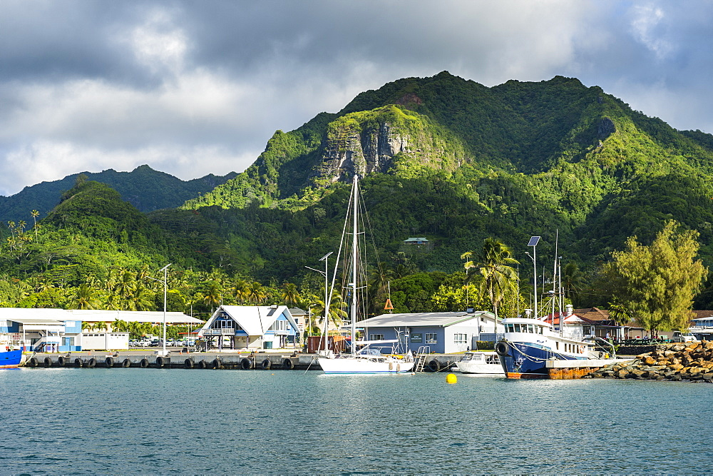 Fishing harbour of Avarua, capital of Rarotonga, Rartonga and the Cook Islands, South Pacific, Pacific