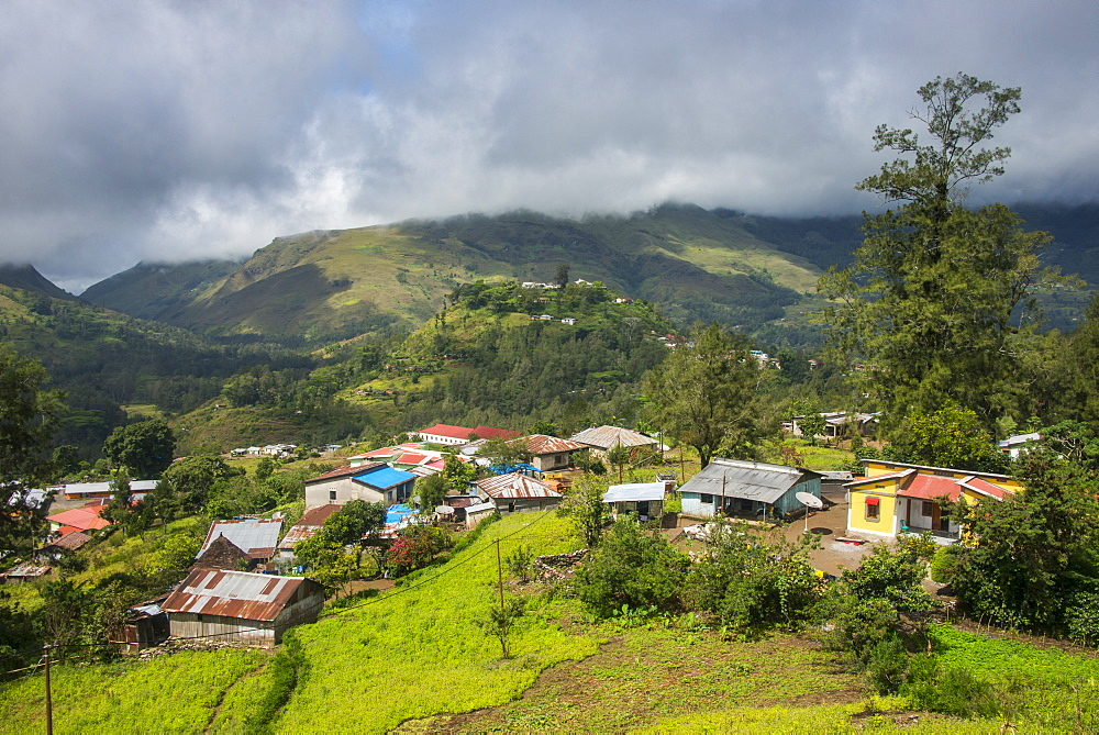 Overlook over the mountain town of Maubisse, East Timor - 1184-1345