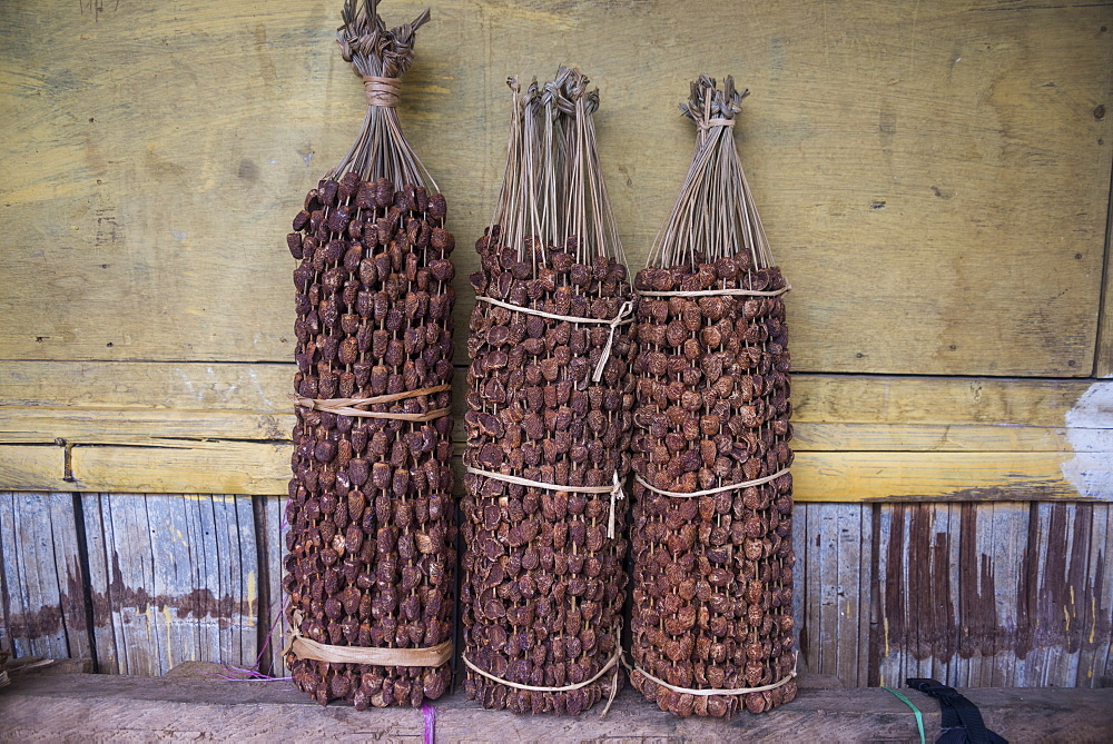 Betel nut (Areca catechu) for sale in a market in Maubisse, East Timor, Southeast Asia, Asia