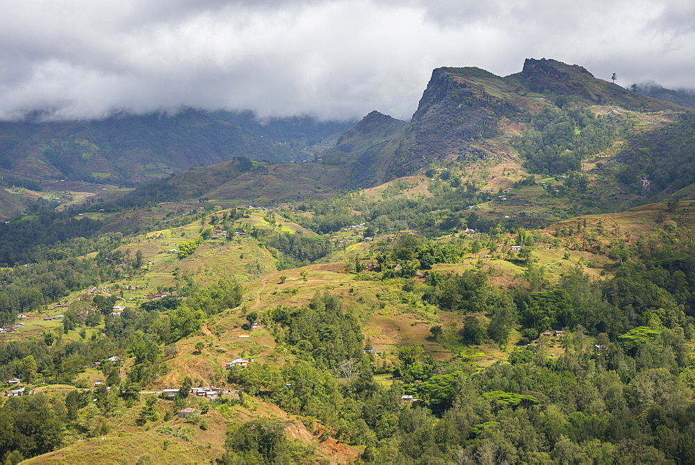 Outlook over the mountains of Maubisse from the Pousada de Maubisse, mountain town of Maubisse, East Timor - 1184-1350