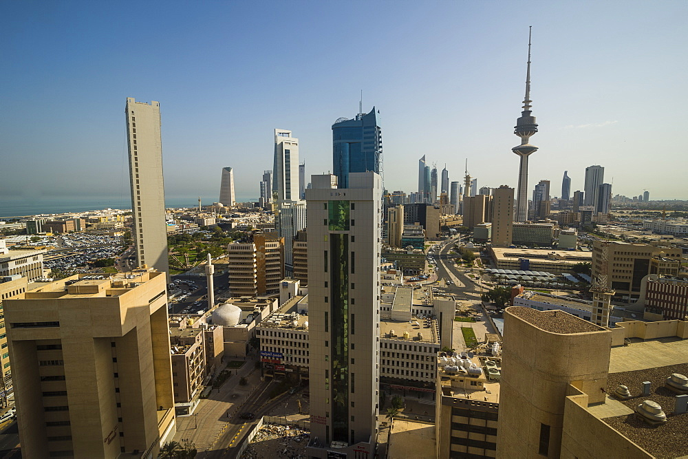 View over Kuwait City, Kuwait, Middle East