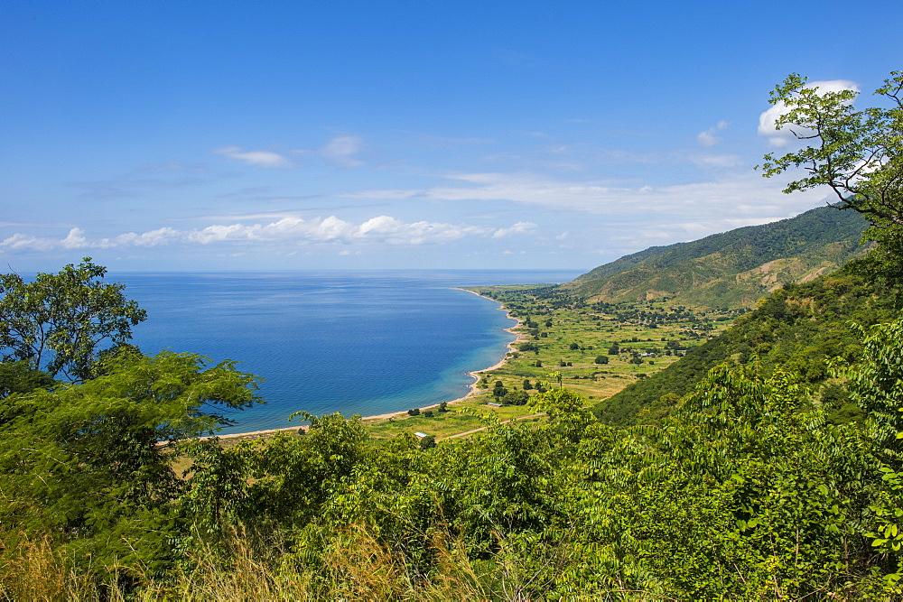 View over Lake Malawi near Livingstonia, Malawi, Africa