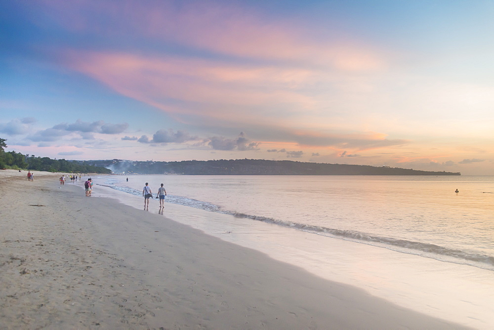 Sunset over Jimbaran beach, Bali, Indonesia