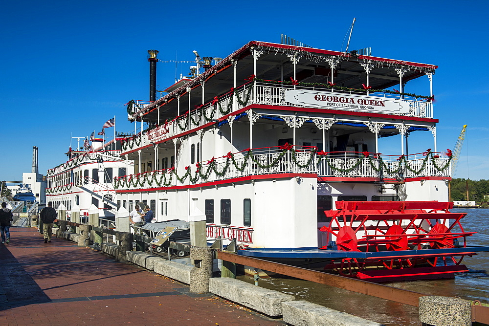 Riverboat on the Savannah River, Savannah, Georgia, United States of America, North America