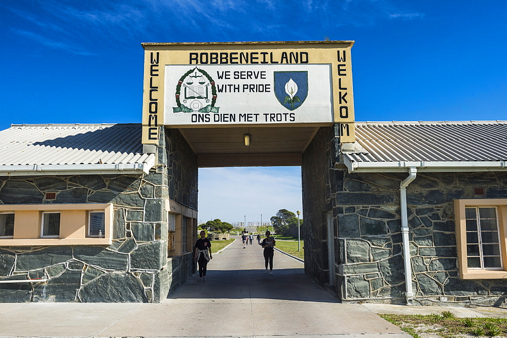 Entrance to the Unesco world heritage sight, Robben island, South Africa