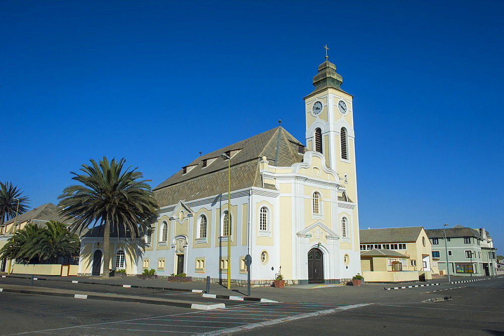 Old German church, Swakopmund, Namibia, Africa
