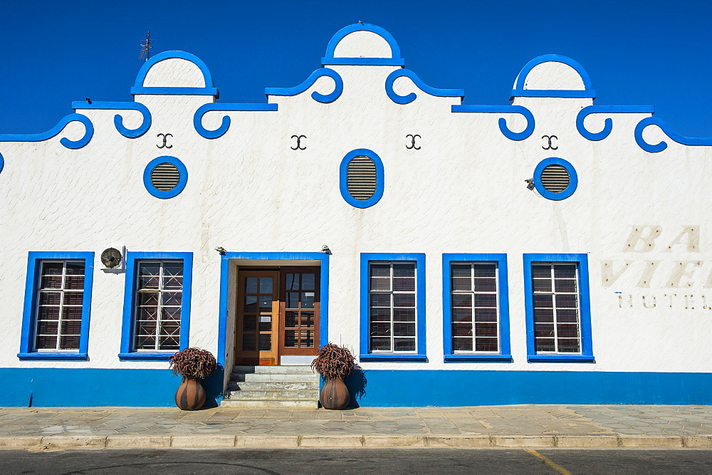 Colonial hotel in Luederitz, Namibia