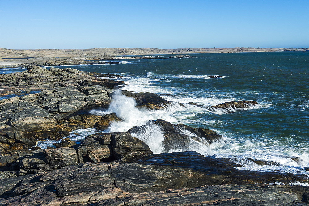 Wild Atlantic coastline on Dias Point, Luderitz, Namibia, Africa