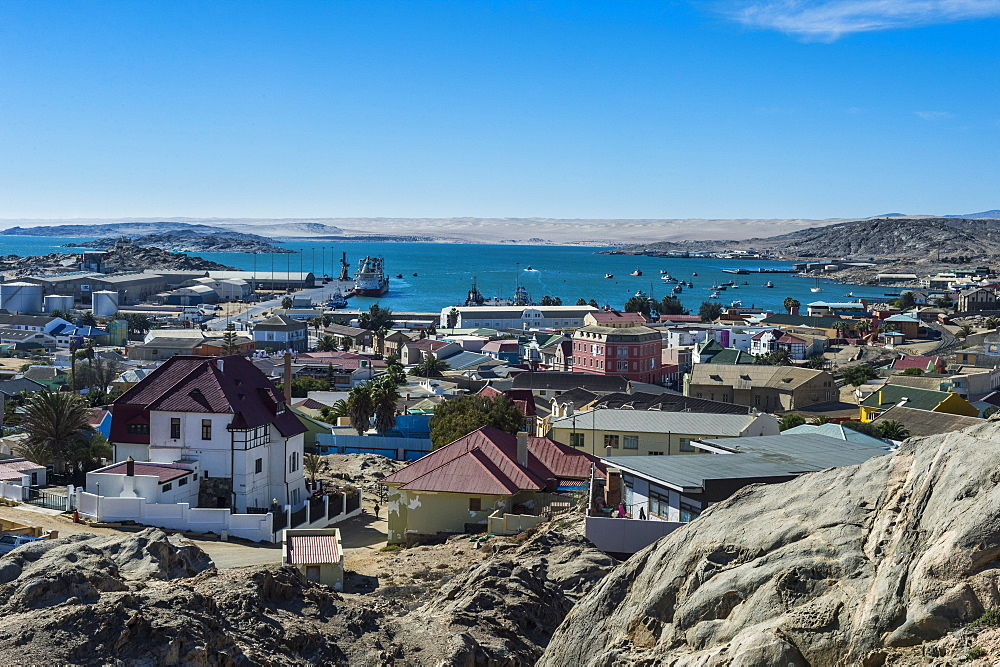 View over Luderitz, Namibia, Africa