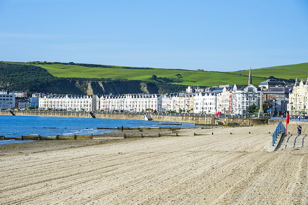 Beach on the seafront of Douglas, Isle of Man, crown dependency of the United Kingdom, Europe