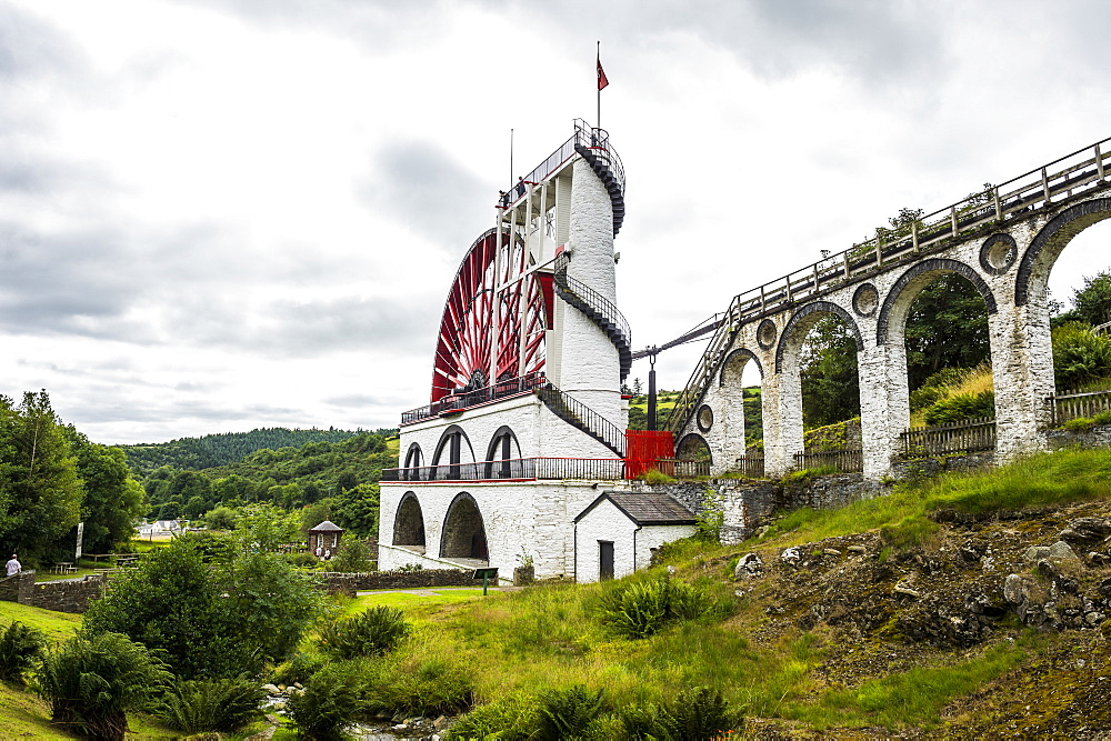 The Great Laxey Wheel, Isle of Man, crown dependency of the United Kingdom, Europe