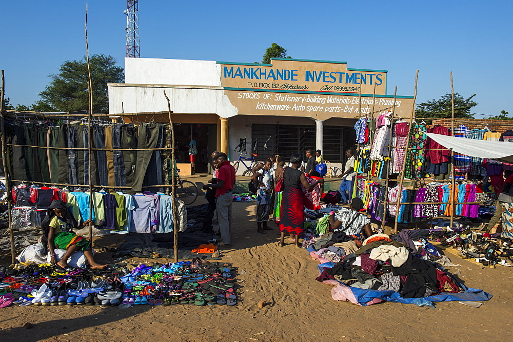 Street market in central, Malawi, Africa