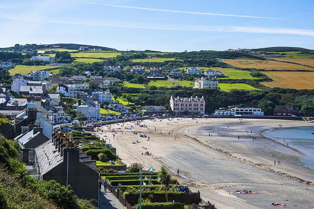 Beach of Port Erin, Isle of Man, crown dependency of the United Kingdom