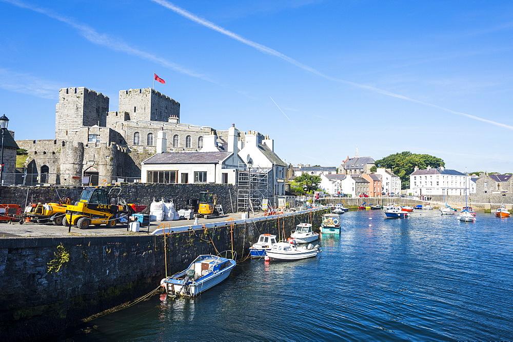 Harbour of Castletown, Isle of Man, crown dependency of the United Kingdom