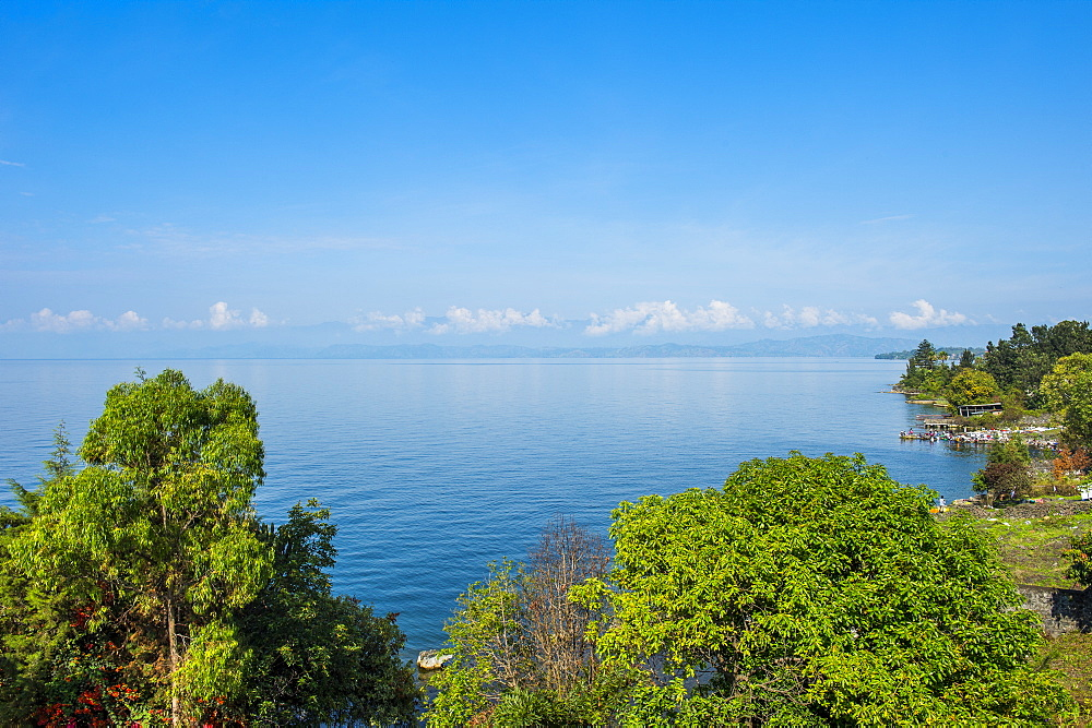 View over Lake Kivu, Goma, Democratic Republic of the Congo, Africa