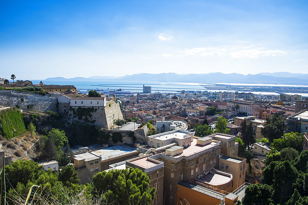 View over Cagliari, Sardinia, Italy, Mediterranean, Europe