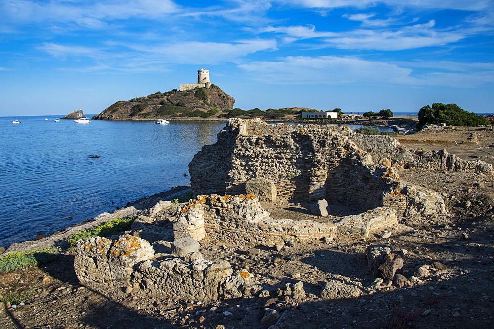 Nora archaeological site, Nora, Sardinia, Italy, Mediterranean, Europe