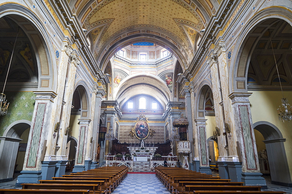Interior of the Oristano cathedral, Oristano, Sardinia, Italy