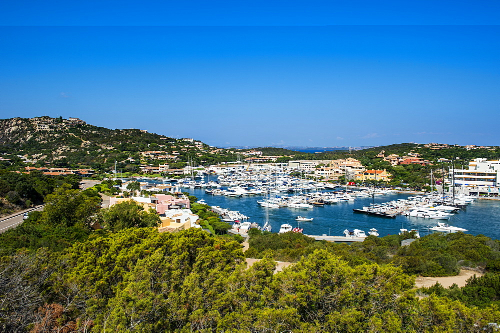 The bay of Porto Cervo, Costa Smeralda, Sardinia, Italy, Mediterranean, Europe