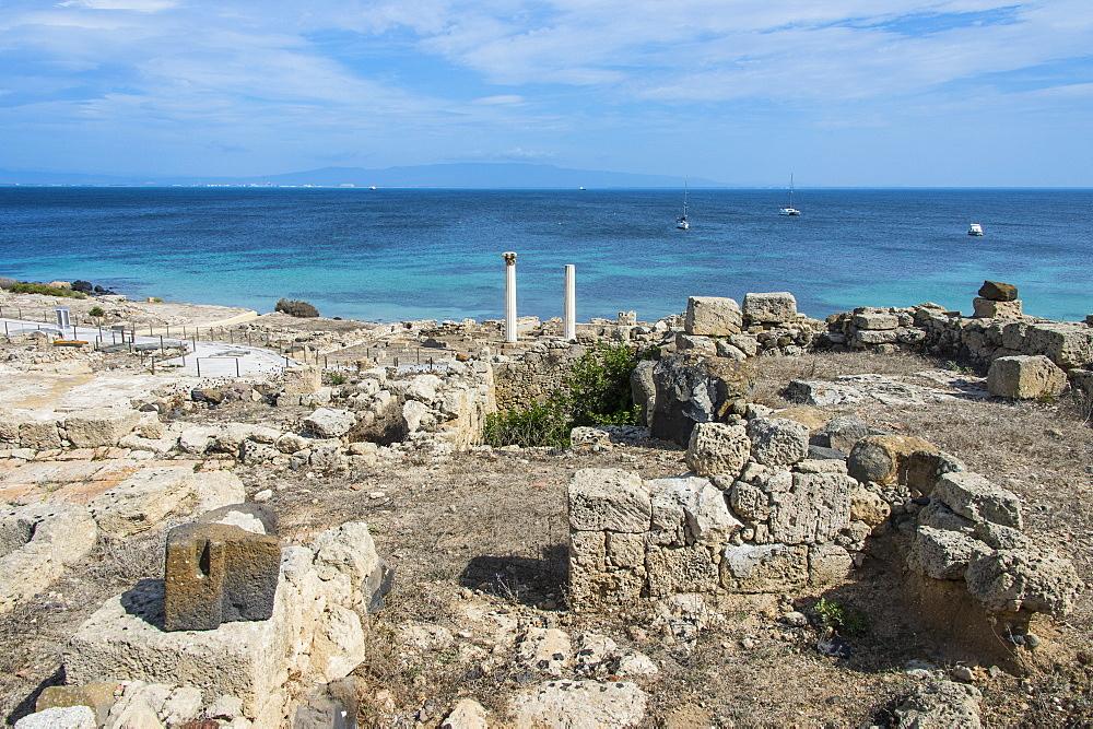 Archaeological site of Tharros, Sardinia, Italy, Mediterranean, Europe