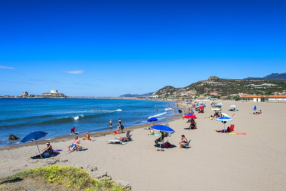 Beach of La Caletta, east coast of Sardinia, Italy, Mediterranean, Europe