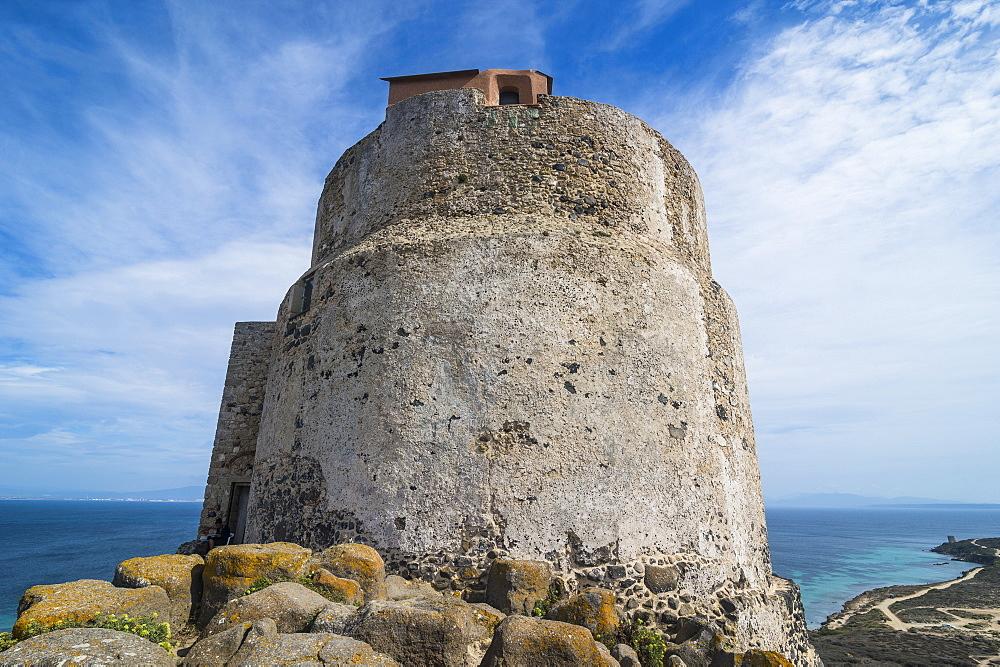 Tower of San Giovanni, Tharros, Sardinia, Italy, Mediterranean, Europe