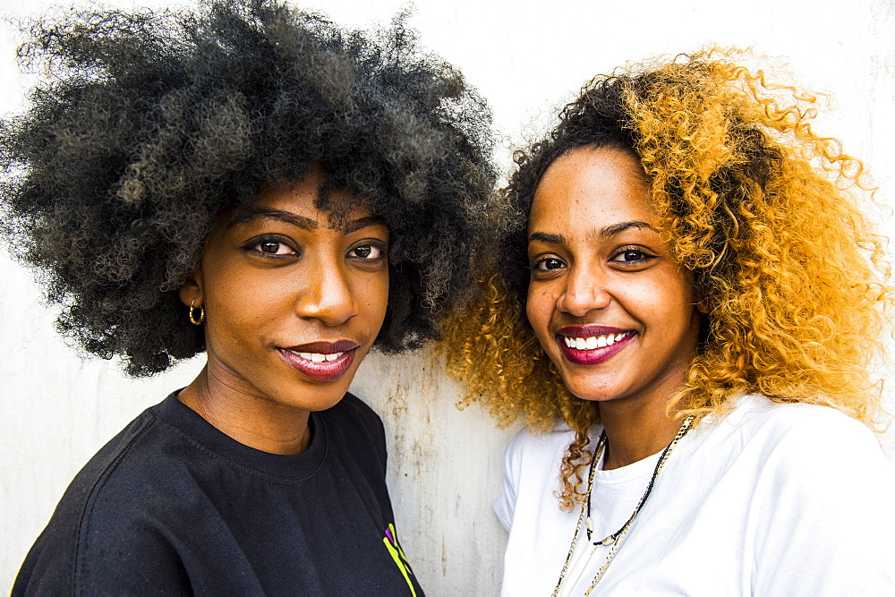 Pretty girls posing, Bujumbura, Burundi, Africa
