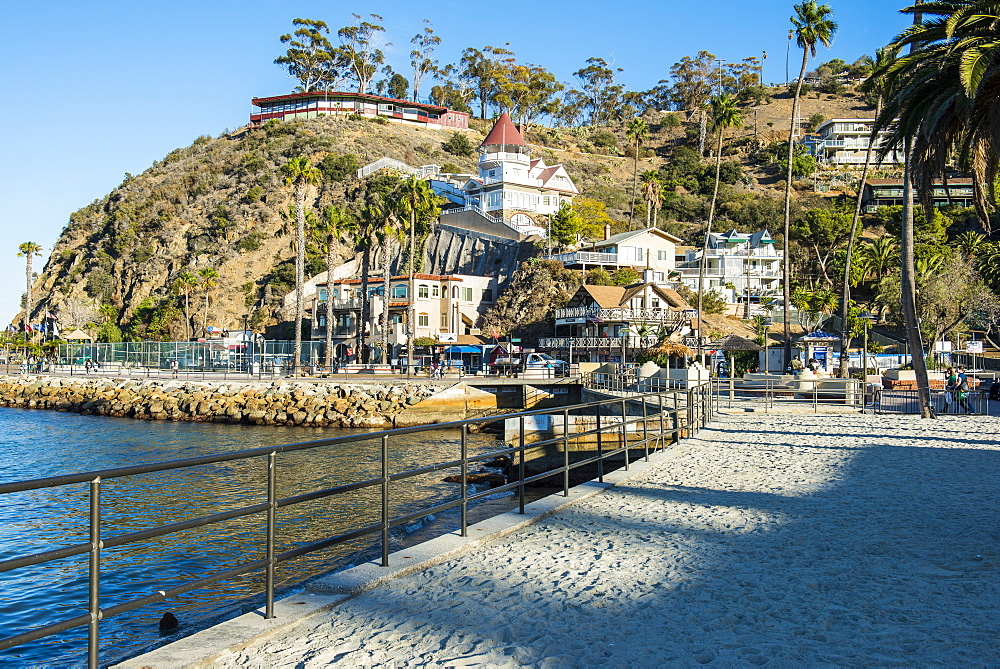 The town of Avalon, Santa Catalina Island, California, USA