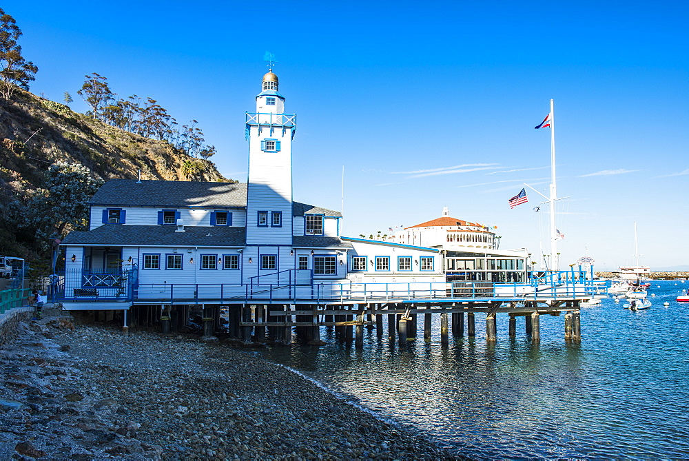 Catalina Yacht club in Avalon, Santa Catalina Island, California, USA