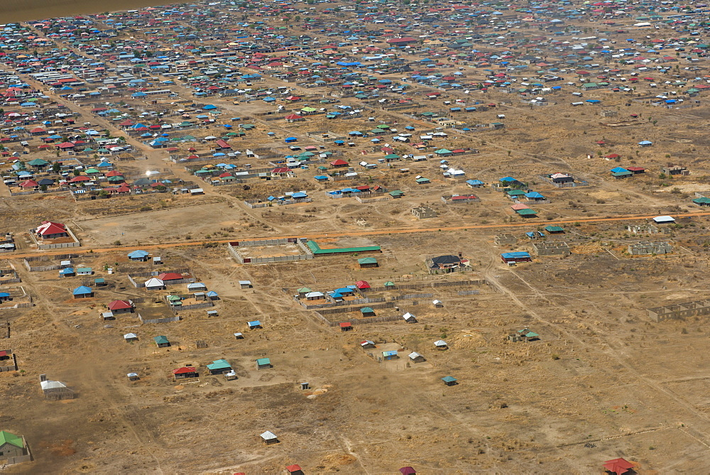 Aerial of Juba, South Sudan, Africa