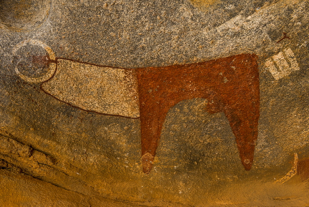 Cave paintings in Lass Geel caves, Somaliland, Somalia, Africa