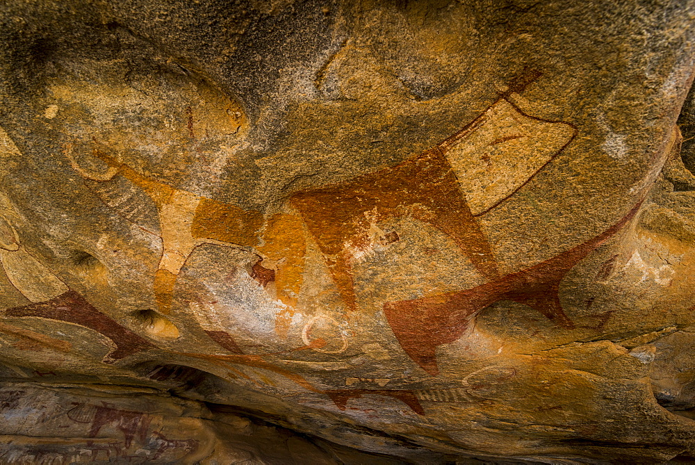 Cave paintings in Lass Geel caves, Somaliland, Somalia - 1184-1783