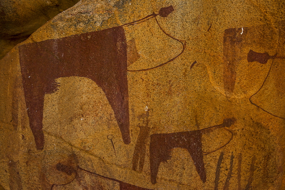 Cave paintings in Lass Geel caves, Somaliland, Somalia - 1184-1785