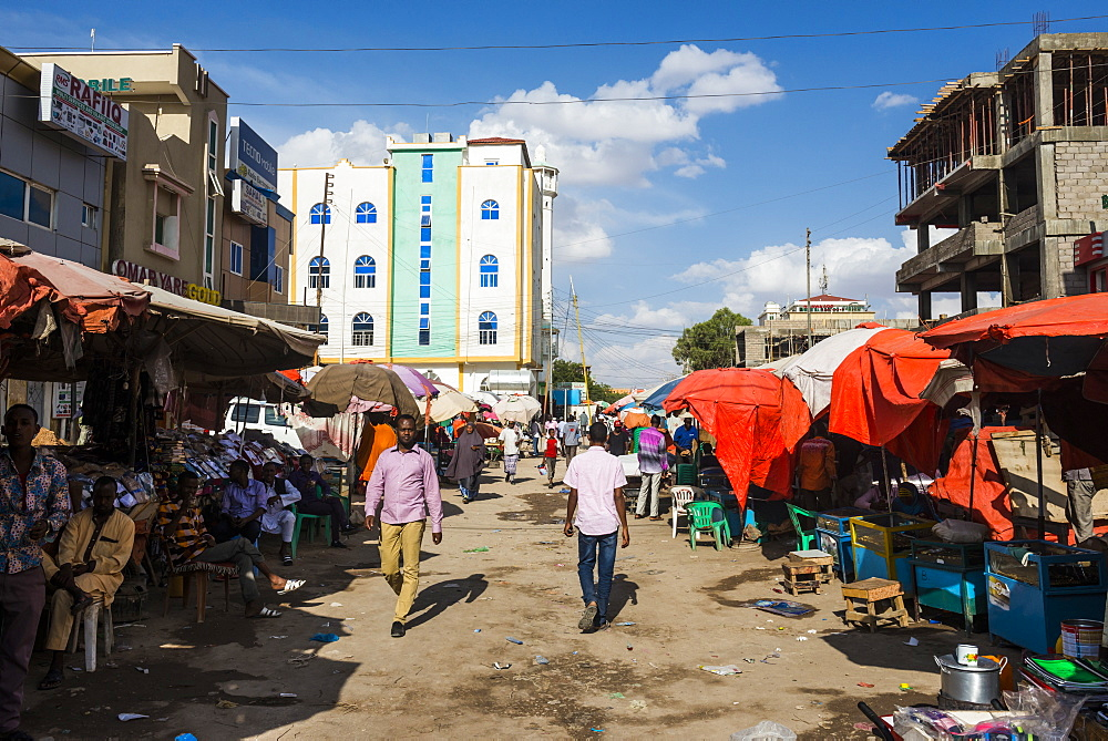 Dusty street in Hargeisa, Somaliland, Somalia, Africa