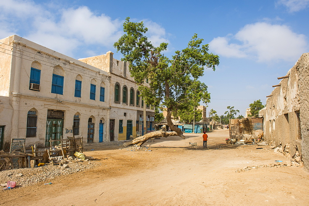 Old BBC radio station in the center of the coastal town of Berbera, Somaliland, Somalia, Africa