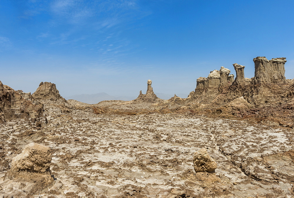 Sandstone formations in Dallol, hottest place on earth, Danakil depression, Ethiopia, Africa